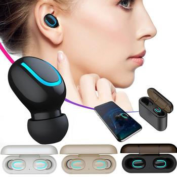 TWS-Q32 Bluetooth 5.0 Binaural Stereo Headsets Mini In-ear Sports Earphones Music Earbuds Wireless Earpieces With Charging Box