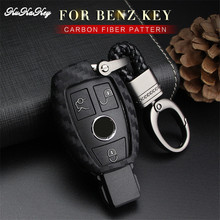KUKAKEY Car Key Case Cover For Mercedes Benz W203 W210 W211 W124 W202 AMG C E S R CLS CLK CLA SLK Key Bag Shell Car Accessories