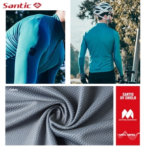 Image 3 - Santic Autumn Winter Pro Cycling Jerseys  MTB Downhill Breathable Long Sleeve Top Jersey Mountain Bike Clothing Maillot Ciclismo