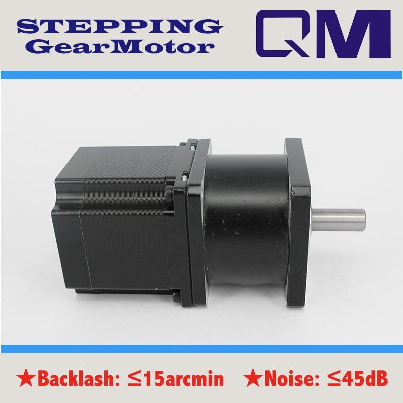 ФОТО   Gear stepper motor  nema 23 stepper motor     L=54mm planetary  gearbox ratio 4:1