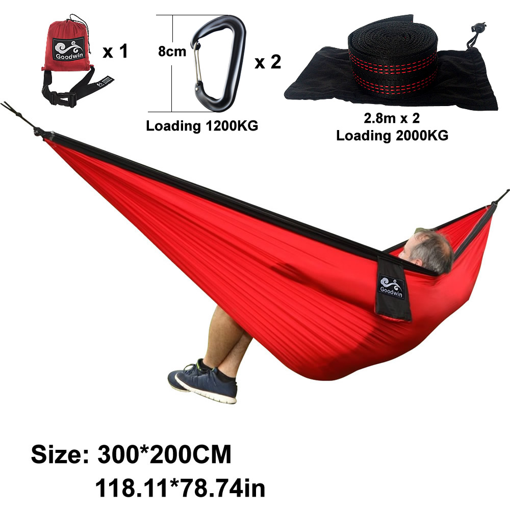 20 Color 2 people Hammock 2017 Camping Survival Garden Hunting Leisure Travel Double Person Portable Parachute Hammocks 3M*2M