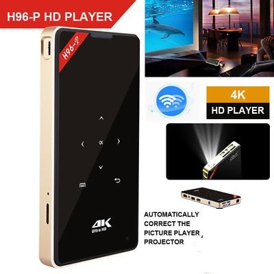 android pocket projector H96-P dlp mini projector 4k 2G 16G amlogic S905 2.4G 5.8G Wifi BT4.0 Home theater h96 projector стоимость