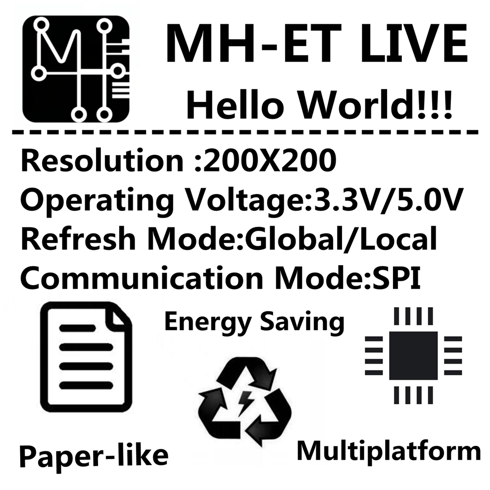 Mh Et Live 154 Inch Epaper Module E Paper Ink Eink Display Screen Wiringpi C Mono 2 Spi Support Global Part For Tzt Stm Raspberry Pi Esp32 In Integrated Circuits From