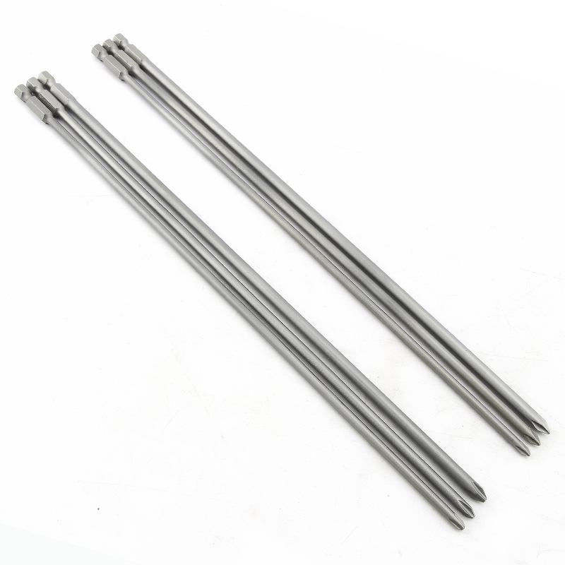 300mm Longer High Strength Phillips Strong Magnetic Screwdriver Bit Set Cross Hard Pneumatic Head Electric Batch Head