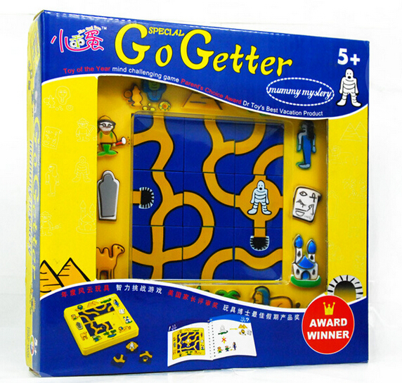 Candice guo plastic toy cartoon puzzle game baby birthday gift go getter Mummy Intelligence square move