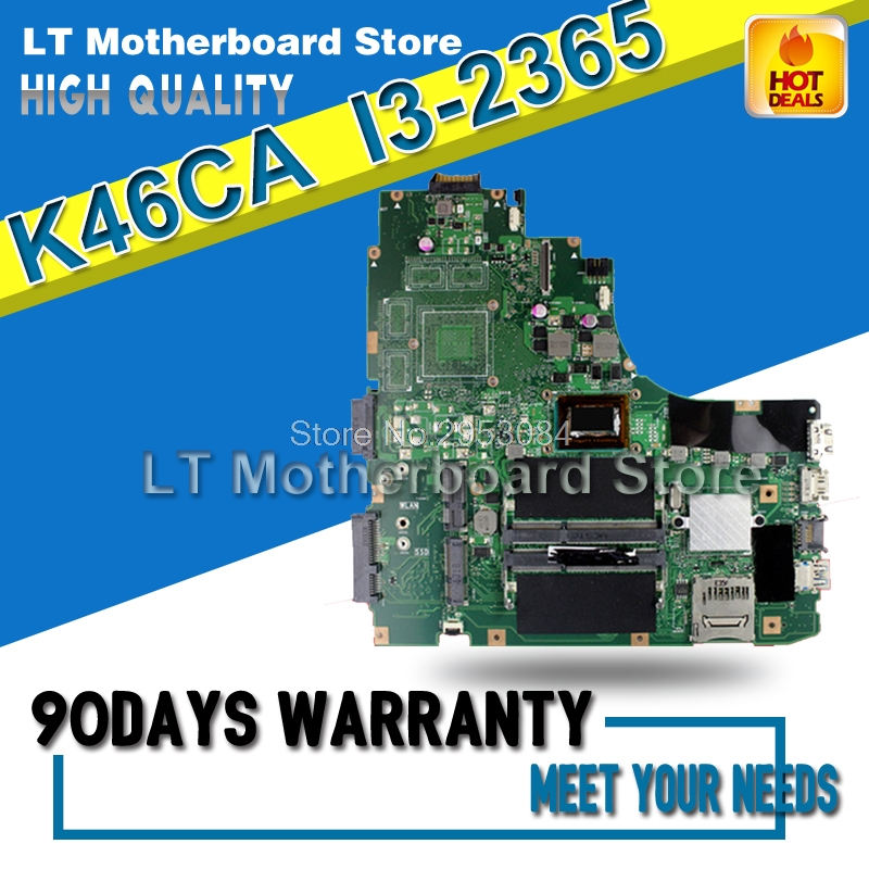 For ASUS  K46C K46CM K46CB S46C A46C K46CA Laptop Motherboard K46CM REV:2.0/2.1 I3 CPU GM Motherboard On Board Tested