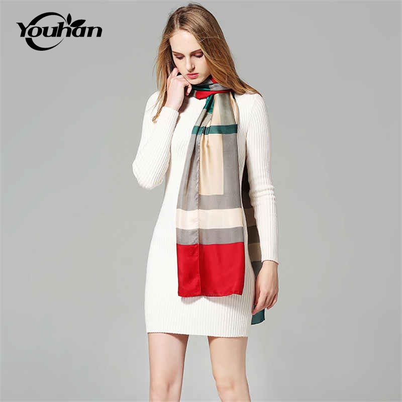 YOUHAN 2018 New Fashion Silk Women Scarf Autumn Winter Female Ladies Scarves Travel Pashmina Shawl