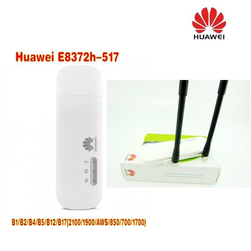 Huawei E8372h-517 LTE FDD MiFi modem stick plus 2pcs antenna lot of 2pcs huawei e8372h 517 lte wifi stick plus 2pcs antenna