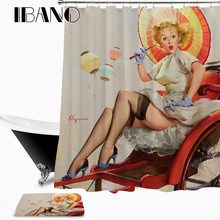 цена на Marilyn Monroe Shower Curtain Waterproof Polyester Fabric 150x180cm Shower Curtain And 40x60cm Bath Floor Rug For The Bathroom