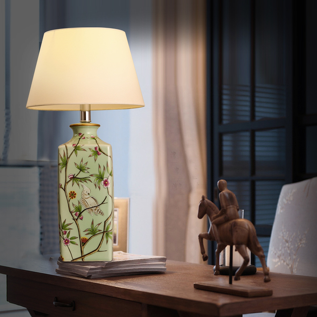 elegant the art of lighting. Modern Chinese Ceramic Table Lamp Classical Warm And Elegant Bedroom Bedside Decorative Cloth Art The Of Lighting E