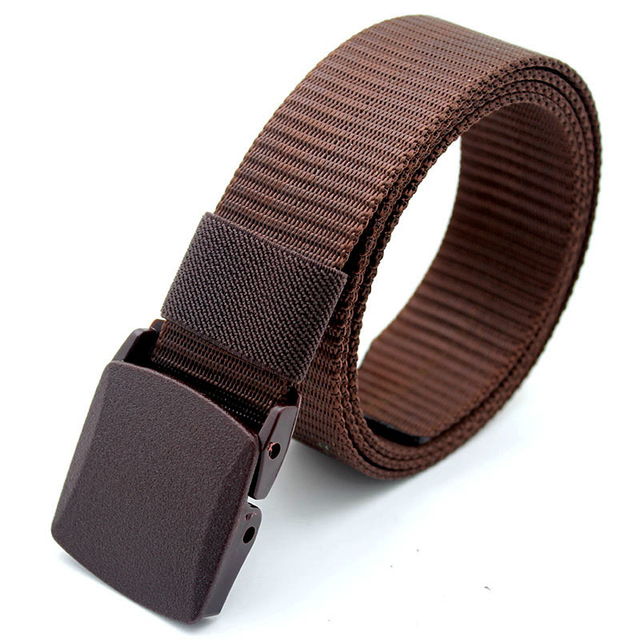 Men Female Belts Military Nylon Adjustable Belt Men Outdoor Travel Tactical Waist Belt with Plastic Buckle for Pants 130cm 3