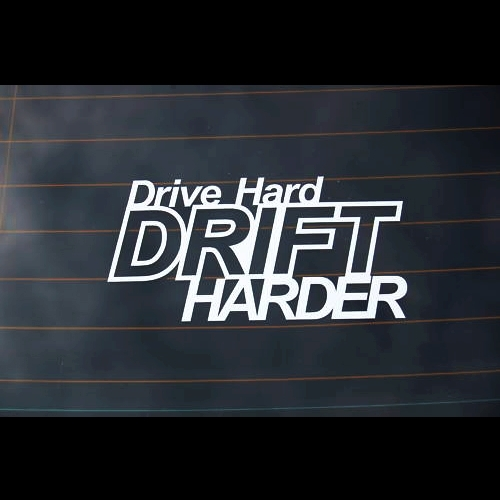 Xgs decal car vinyl cut decal hard drive drift harder 20cm x 10cm waterproof qaulity outdoor car motorcycle truck boat sticker in car stickers from