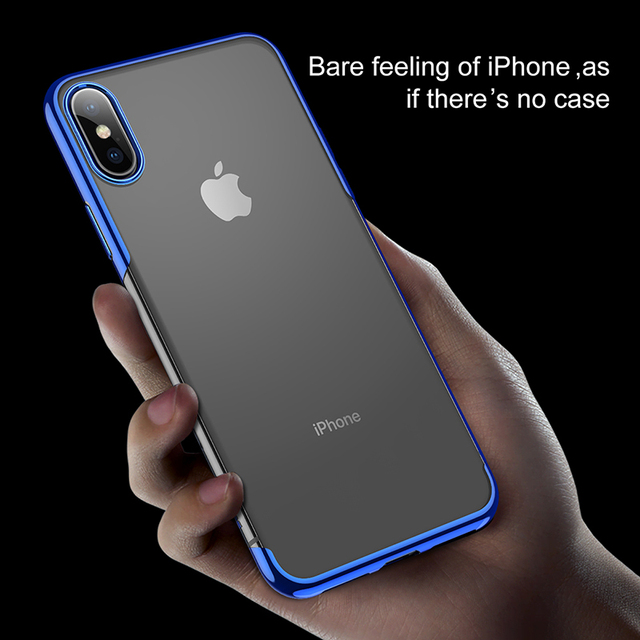 Baseus iPhone XS XR XS Max Luxury Plating Soft Silicone Back Case Cover