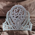 """Luxurious Queen Crown Handmade Bridal Wedding 5"""" Rhinestone Princess Full Circle Tiara Pageant Party Costumes Fashion Jewelry"""