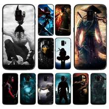 Japanese anime black and white ninja For Samsung Galaxy A5 A6 A7 A8 A9 2018 2019 Plus M10 M20 M30 Soft phone case(China)