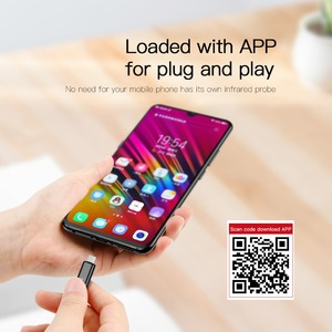 Image 4 - Control remoto Universal Baseus R03 para TV/aire acondicionado/proyectores Micro Jack Control remoto inteligente por infrarrojos para teléfono Xiaomi Huawei