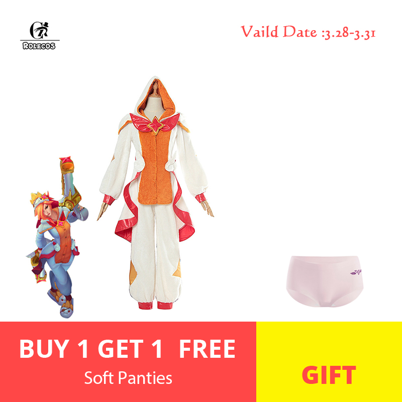 ROLECOS Pajama Star Guardian LOL Cosplay Costume Miss Fortune Cosplay Costume Women Pajama for Winter LOL Game Costume Halloween