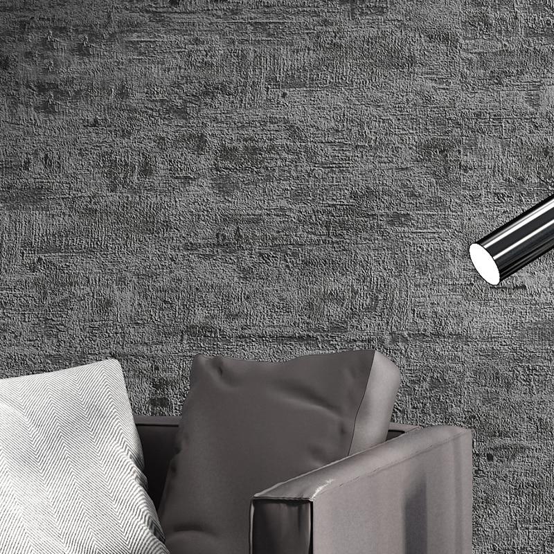 Retro Nostalgic 3D Plain Color Cement Gray Wallpaper PVC Waterproof Nordic Living Room Clothing Store Wallpaper Home Decor RollRetro Nostalgic 3D Plain Color Cement Gray Wallpaper PVC Waterproof Nordic Living Room Clothing Store Wallpaper Home Decor Roll