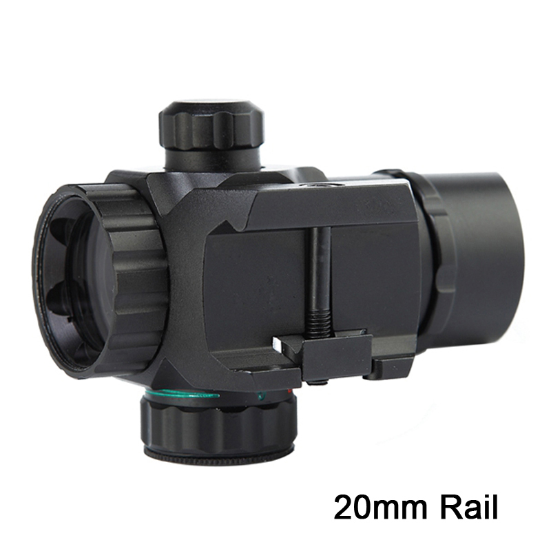 Image 3 - 1 x 22 Tactical Red/Green Dot Sight Scope Dual illuminated Reticle Airsoft Aiming Riflescope for Hunting fit 20mm Rail Mounts-in Riflescopes from Sports & Entertainment