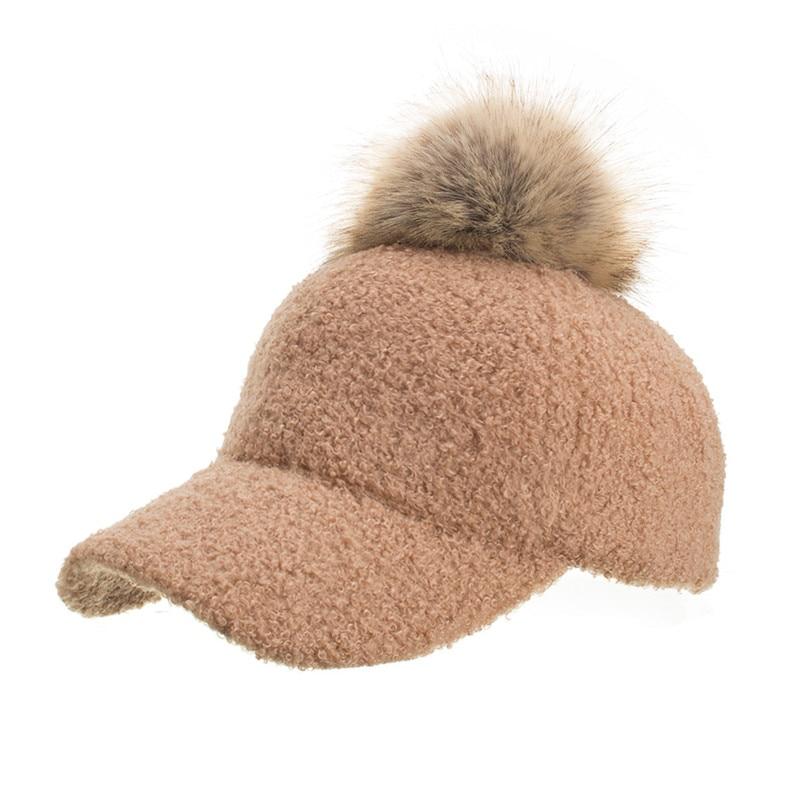 Winter Women\`s Caps Wool Baseball Cap Black Tactical Hat Shade Hats Winter Casual Bone Gorras Para Hombre Wholesale 40OR150