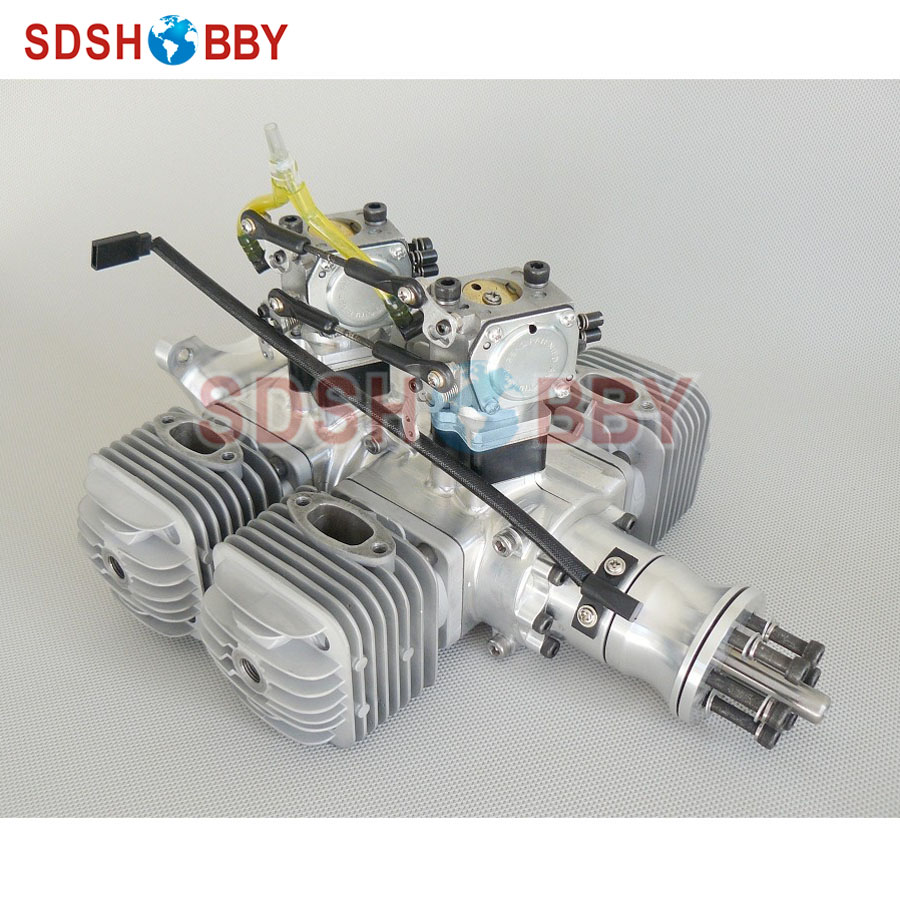 DLA128 CNC Processed Gasoline Engine/Petrol Engine 128CC for Gas Airplane with Four Cylinders aluminum water cool flange fits 26 29cc qj zenoah rcmk cy gas engine for rc boat
