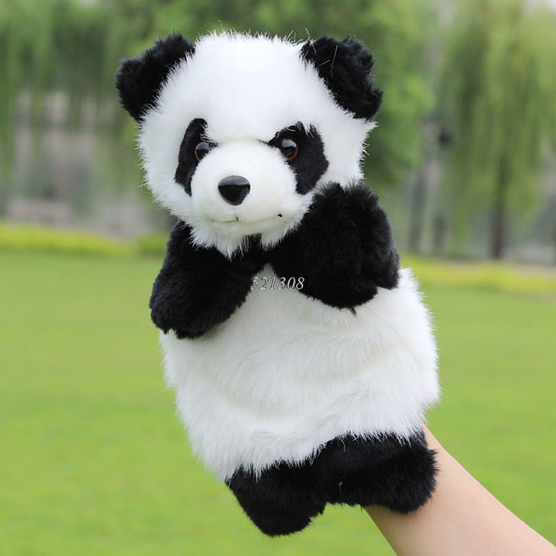 Baby Plush Toys Cute Cartoon Panda Hand Puppet Baby Kids Doll Plush Toy Hand Puppets Children Learning & Education Toys hand in hand for education