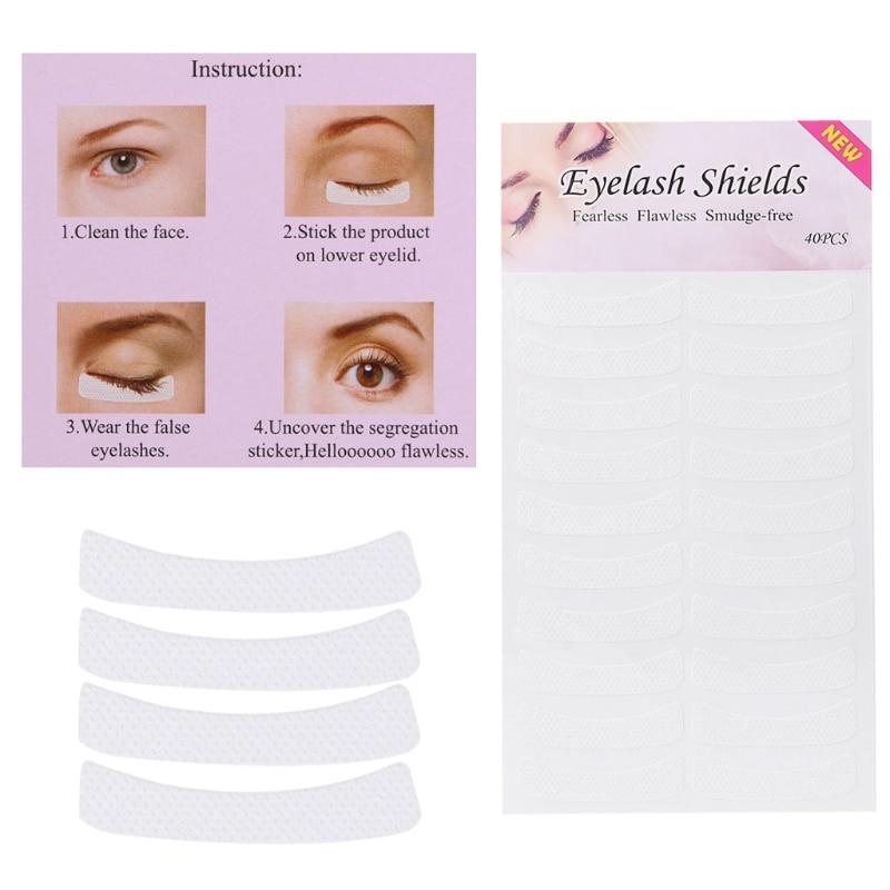 HUAMIANLI 40 Pairs Eyelash Lash Individual Extension Tools Supply Medical Tape Makeup Tool Kit New Dropshipping