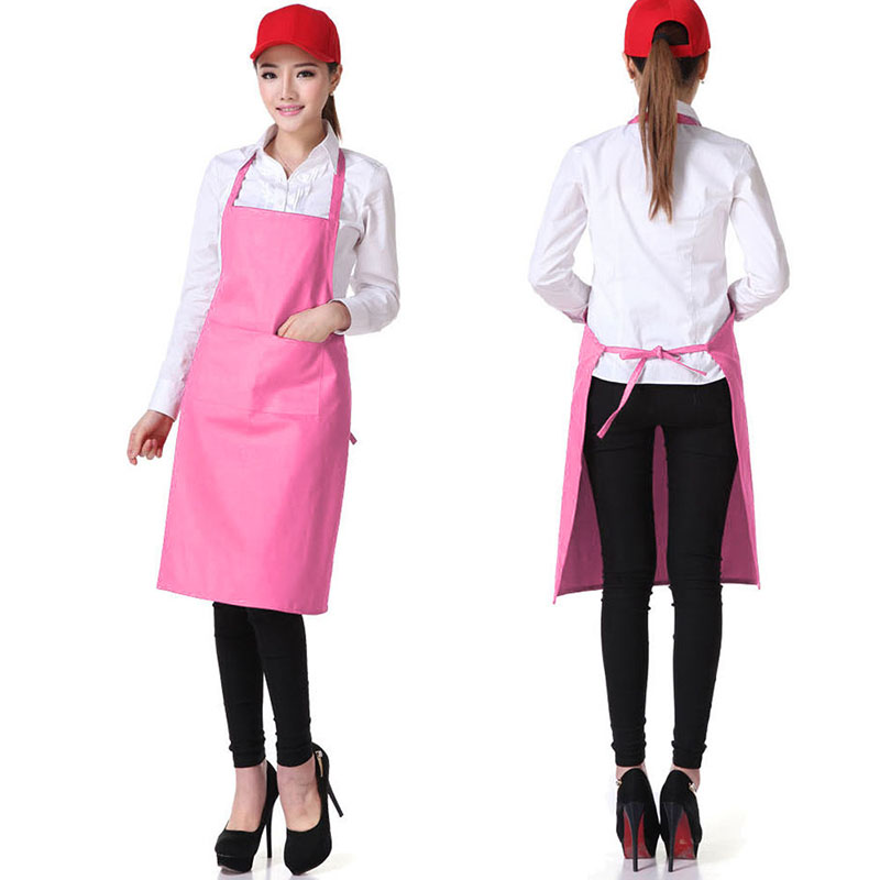 Plain Apron + Pocket for Chefs Butchers BBQ Kitchen Cooking Craft Black Blue Red