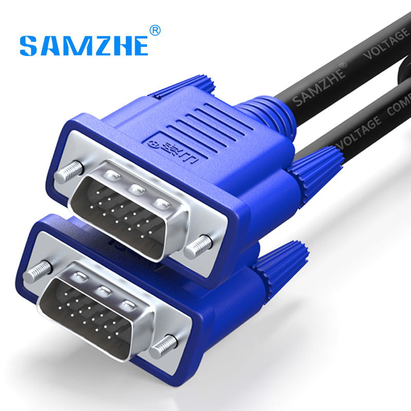 SAMZHE 1080P VGA Cable Male to Male 3+6 Pin VGA D-SUB able for HDTV Multimedia Display 1.5m 3m 5m 10m 15m 20m 30m hwexpress hot 1 5m vga 15 pin male to 3 rca rgb male video cable adapter