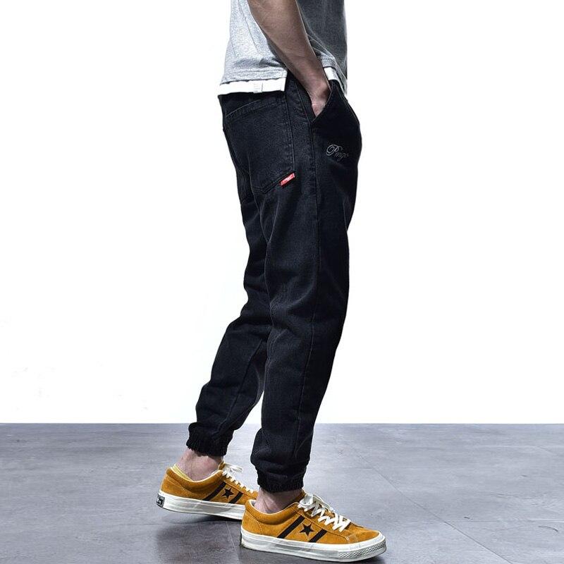 Vintage Designer Fashion Men Jeans Black Color Classical Denim Joggers Pants Hombre Japanese Style Streetwear Hip Hop Jeans Men