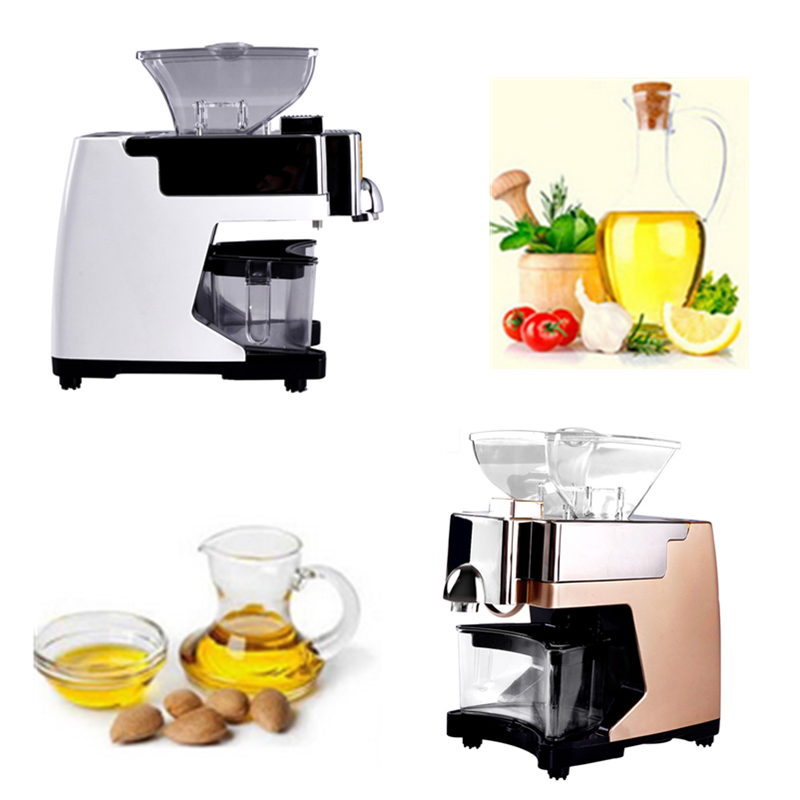 Mini Peanut Soybean Seed Oil Press Machine Commercial Home Oil Extractor Expeller Presser 110V Or 220V Available 1pc perfect 110 220v 200w mini seed oil press machine home use peanut oil pressing presser machine