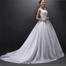 Новое поступление атласные свадебные платья Гламурное бальное