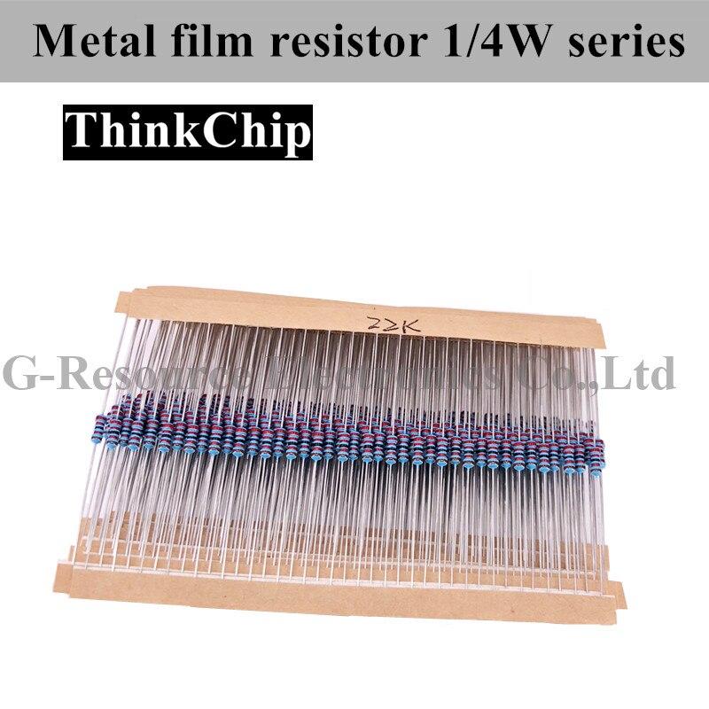 Free Shipping 600 Pcs / Lot 1/4W 1% 20PCS 30Values Metal Film Resistor Assortment Kit Set Pack Electronic Diy Kit Resistor