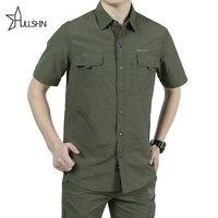 Nuevo en stock estilo uniforme militar Más Tamaño de Alta calidad de los hombres del Verano hombres de secado Rápido camisa de manga larga Ocasional ocio LB-S102