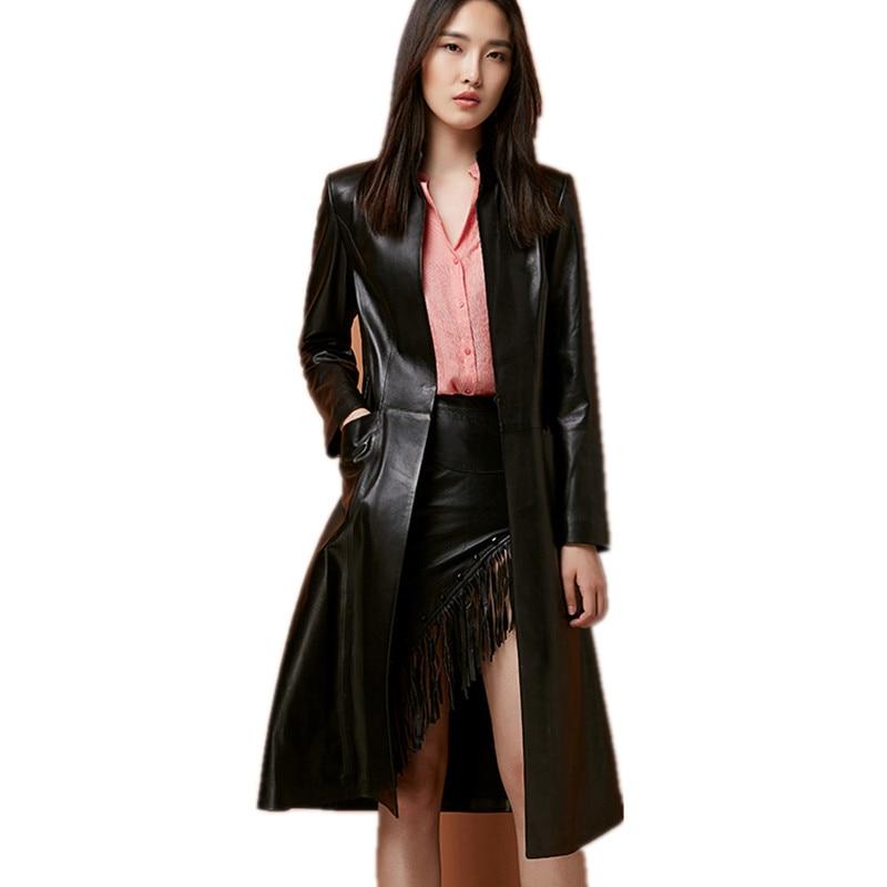 Spring And Autumn Ladies' Genuine Sheepskin Leather ...