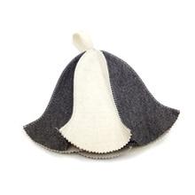 Wool Felt Sauna Hat Two different desgin (two pcs/lot)