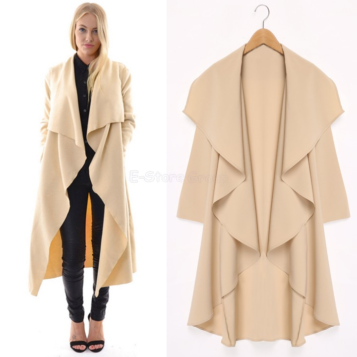2015 Maxi Winter Coats Women Long Overcoats Trench Coat Designer ...