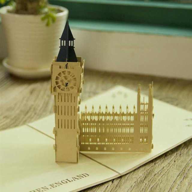Aliexpress Buy Wholesale 10pcs Vintage Big Ben Folding – Where to Buy Big Birthday Cards