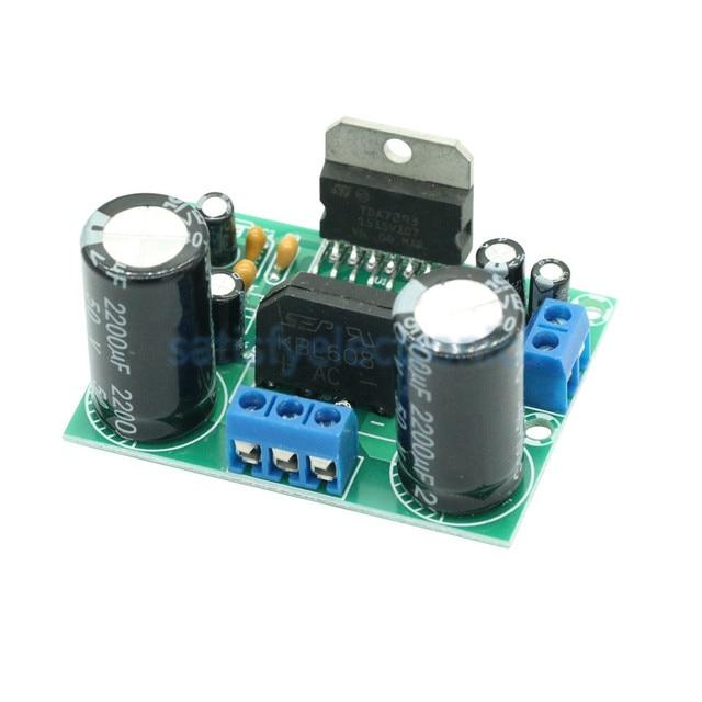 Placa amplificadora de áudio tda7293, mono, canal único ac 12v 50v 100w