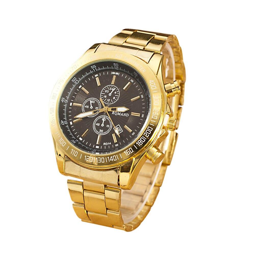 99d1a7d56dd Homens Relógio de Aço Inoxidável Movimento De Quartzo Analógico Relógios de  Pulso negócio ceia ceia fun 2016 dec08