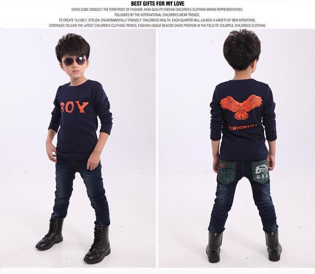 Children 's long - sleeved T - shirt winter bottoming shirt plus velvet thicker thermal shirt