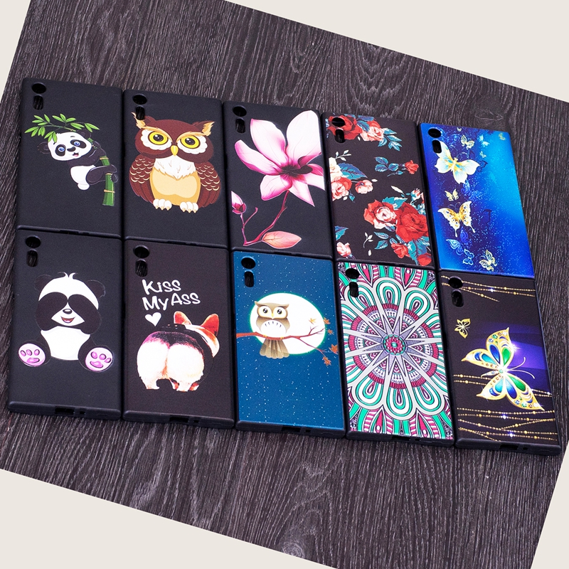 For Sony Xperia XZ Case For Sony Xperia XZS Case For Sony XZ Case Silicone Bamboo Panda  ...
