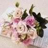 13heads Silk Roses Bride Wedding Bouquet