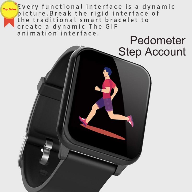 Montre-bracelet intelligente montres intelligentes moniteur de fréquence cardiaque numérique message push hommes Sport bande intelligente Bluetooth bande 4 IOS andorid - 5