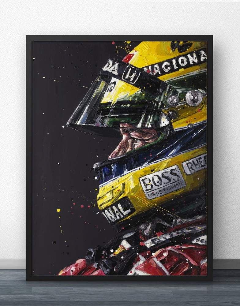Ayrton Senna F1 Formula Grand Movie Wall Art Paint Wall Decor Canvas Prints Canvas Art Poster Oil Paintings No Frame