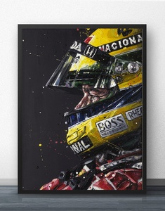 Ayrton Senna F1 Formula Grand Movie Wall Art Paint Wall Decor Canvas Prints Canvas Art Poster Oil Paintings No Frame(China)