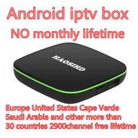 Android tv box HaoSiHD android tv box A6 Бесплатные iptv подписка iptv Португалия, Италия, Бельгия, Швеция Франция Европа ТВ приставка android 7,1