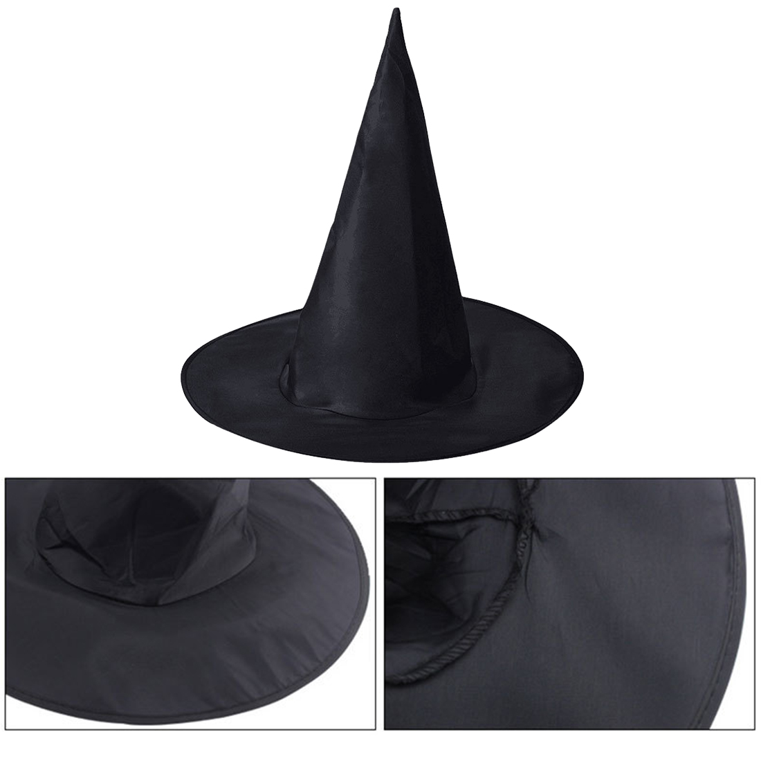 Halloween witch hat Fashion  Black spire COS prop Cool Harry Potter magic hat Oxford Cloth Hight Quality