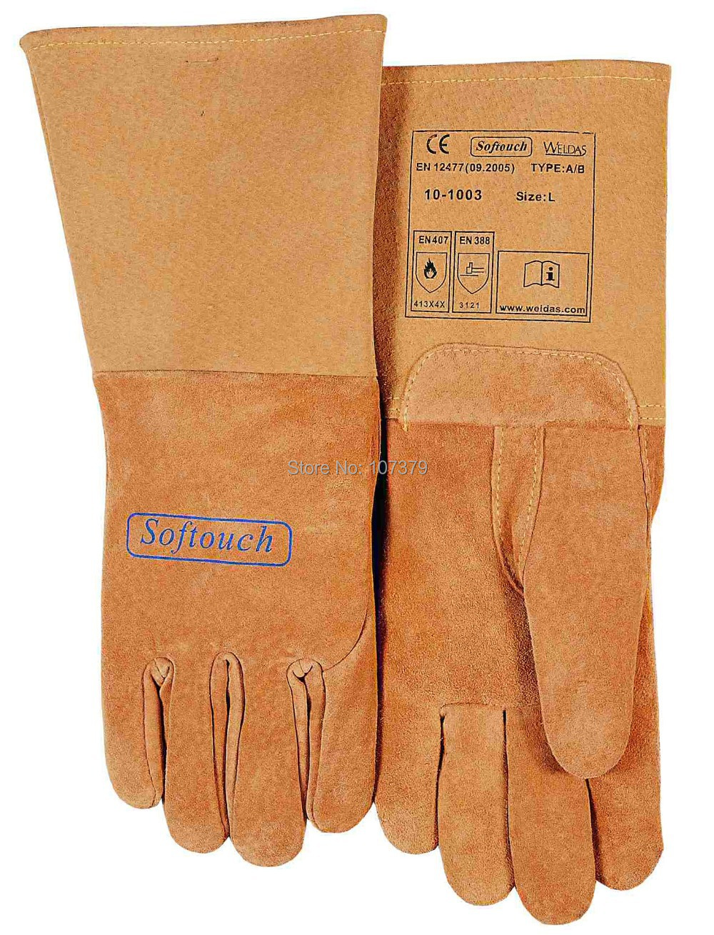 TIG MIG  Work Glove Top Grain Reverse Pigskin Leather Welding Gloves leather safety glove deluxe tig mig leather welding glove comfoflex leather driver work glove