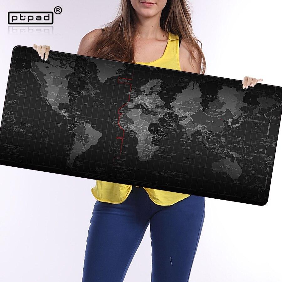 Pbpad store nouveau Super grande taille 90cm * 40cm grande carte du monde tapis de souris vitesse ordinateur jeu tapis de souris verrouillage bord tapis de Table